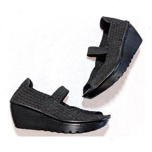 SKECHERS Parallel Woven Wedge Sandals 8